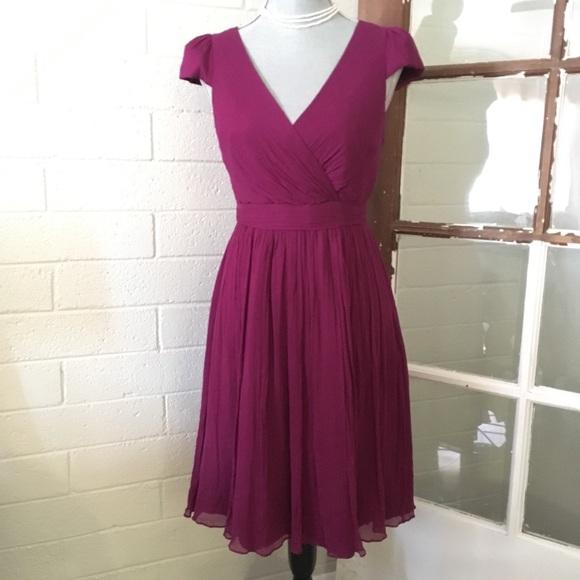 J Crew Berry Pink Silk Dress b97c02adf